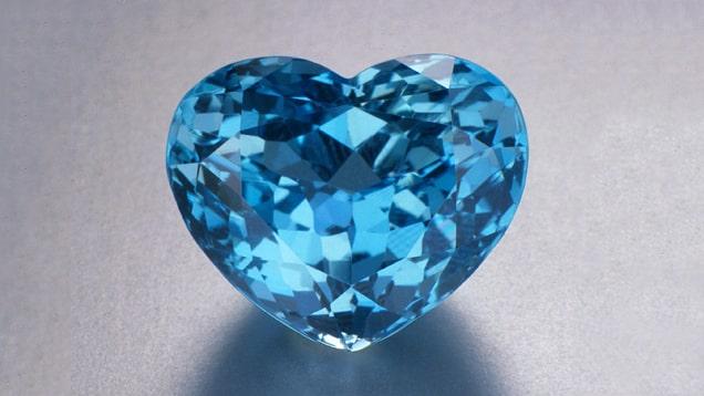 Aquamarine, heart-shape, from Brazil, 32.10 cts
