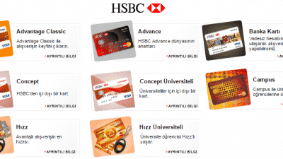 HSBC Kredi Kartı Başvurusu