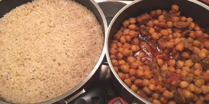 Tencerede Nohut Pişirme