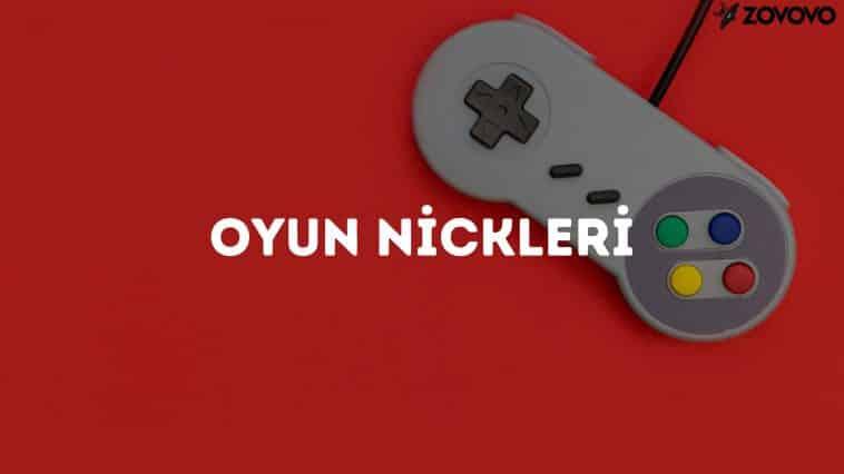 Oyun Nickleri – En İyi İngilizce Oyun Nickleri